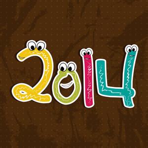Happy New Year 2014 Celebration Background