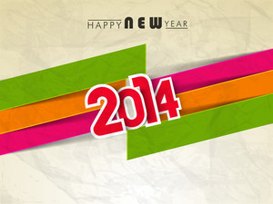 Happy New Year 2014 Celebration Background