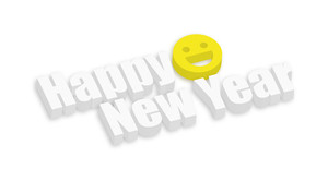 Happy New Year 3d Smiley
