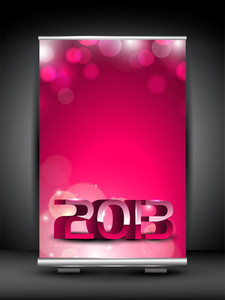 Happy New Year Roll Up Stand Banner.