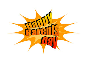 Happy Parent's Day Retro Text Banner