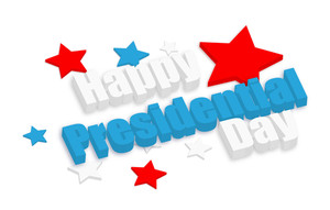 Happy Presidential Day 3d Text