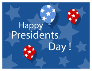 Happy Presidents Day Background Vector Illustration