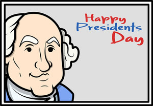 Happy Presidents Day George Washington's Birthday Vector