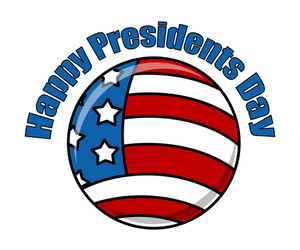 Happy Presidents Day Icon Vector