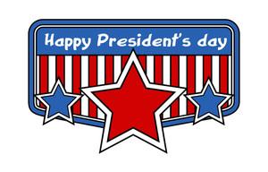 Happy Presidents Day Retro Badge Frame Vector