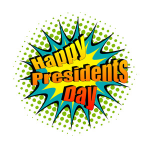 Happy President's Day Retro Text Banner