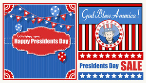 Happy Presidents Day Sale & Vector Backgrounds