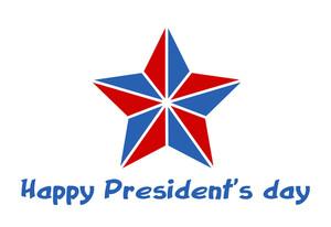 Happy Presidents Day Star