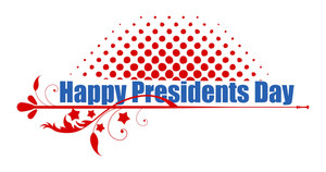 Happy Presidents Day Text Greeting Vector Banner