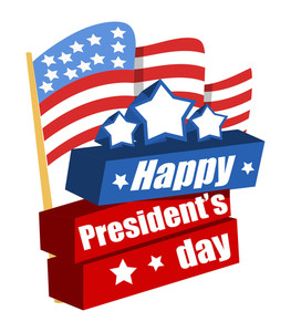 Happy Presidents Day Vector Banner Illustration