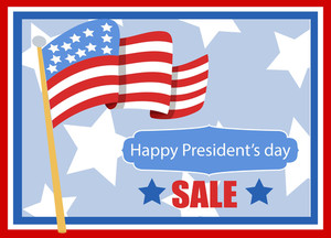 Happy President's Day Vector Banner Illustration