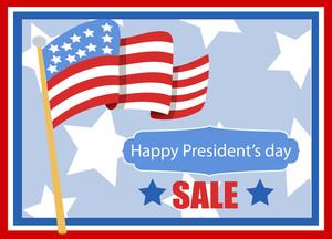 Happy President's Day Vector Banner Illustration