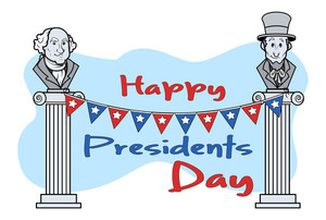 Happy Presidents Day Vector Clipart Cartoon Vector