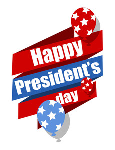 Happy Presidents Day Vector Graphic Illustration