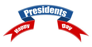 Happy Presidents Day Vector Ribbon Banner Illustration