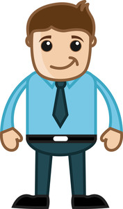 Happy Professional - Business Cartoon Character Vector