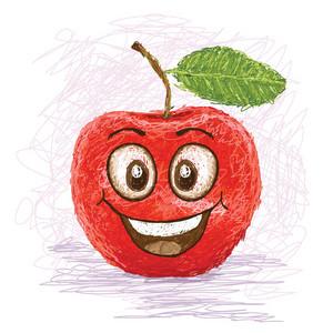 Happy Red Apple