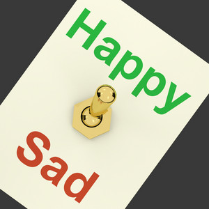 Happy Sad Switch Showing That Happiness Is Important