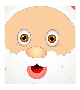 Happy Santa Face Close Up