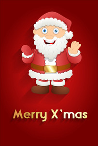 Happy Santa Xmas Greeting