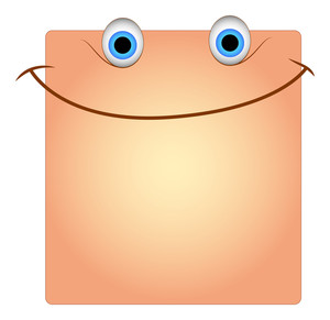 Happy Smile Face Box Smiley Vector