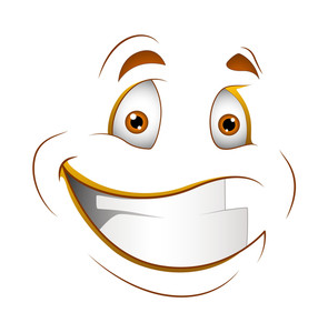 Happy Smile Vector Cartoon Face