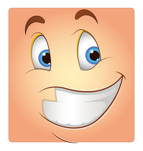 Happy Smile Vector Face