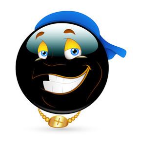 Happy Smiley With Cap Vector