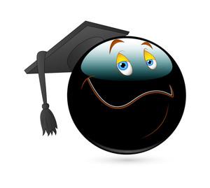 Happy Smiley With Graduation Cap Vector