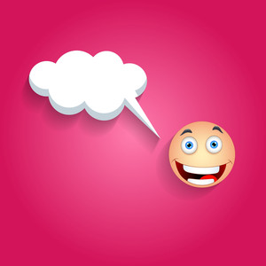 Happy Smiley With Speech Bubble
