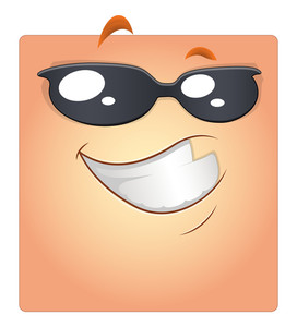 Happy Smiley With Sunglasses Vector