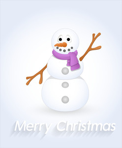 Happy Snowman Character
