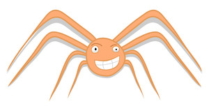 Happy Spider Character