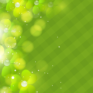 Happy St. Patrick's Day Background In Green Color.