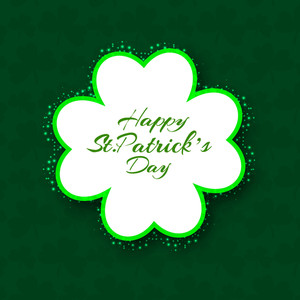 Happy St. Patricks Day Background With Beautiful Clover Leaves On Grungy Background