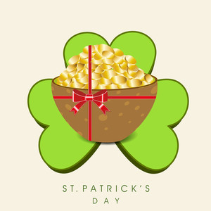 Happy St. Patricks Day Background With Beer Mug On Rainbows Decorated On Brown Background