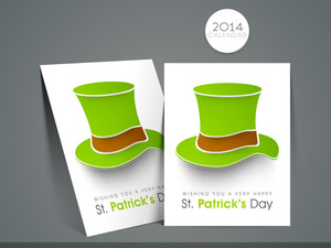 Happy St. Patrick's Day Background With Clover Leaf On Green Background.