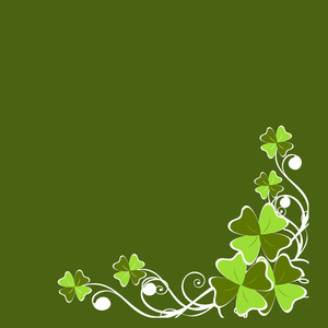 Happy St. Patricks Day Background With Leprechauns Hat On Shiny Green Background.