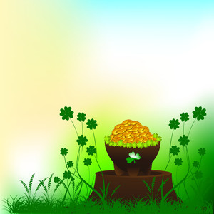 Happy St. Patricks Day Background With Leprechauns Hat