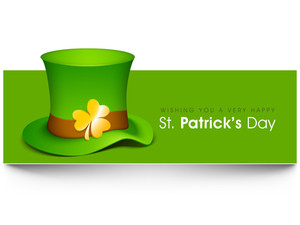 Happy St. Patrick's Day Background With Leprechauns Hat.
