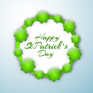 Happy St. Patricks Day Background With Shoe On Red Rays Background
