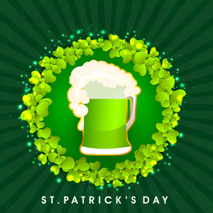 Happy St. Patricks Day Background With Traditional Mud Pot