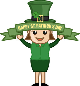 Happy St. Patrick's Day - Cartoon Business Characters