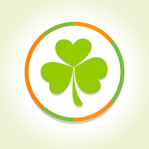 Happy St. Patricks Day Concept With Beautiful Clover Leaf Design