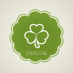 Happy St. Patrick's Day Concept With Clover Leaf