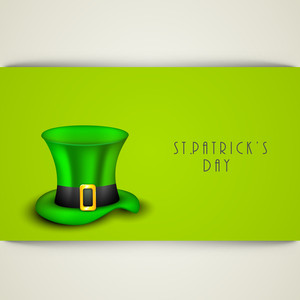 Happy St. Patricks Day Concept With Leprechaun Hat And Blank Space For Your Message.