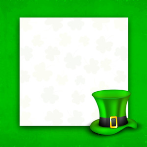 Happy St. Patricks Day Concept With Leprechauns Hat And Blank Space For Your Message.