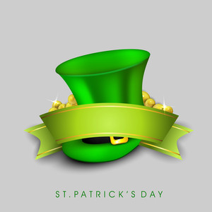 Happy St. Patrick's Day Concept With Leprechaun's Hat