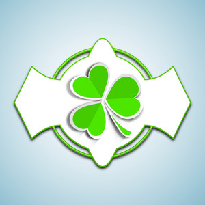 Happy St. Patricks Day Concept With Stylish Clover Leaf